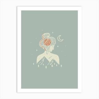 Under The Moonlight Art Print