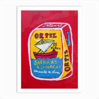Traditional Sardines Can, Best Food In The World Art Print