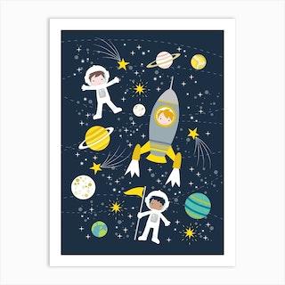 Space Explorer Art Print