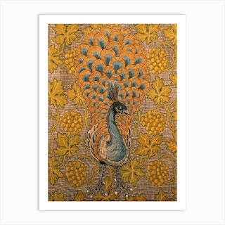 Peacock And Vine Detail, William Morris And Philip Webb Art Print