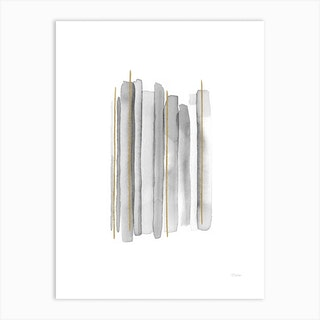 Vertical Lines With Gold Art Print