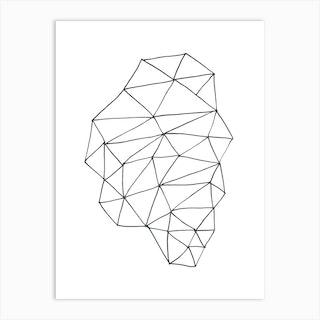 Freehand Geometric Line Drawing Art Print