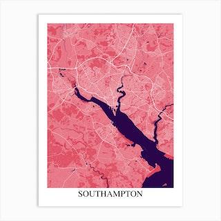 Southampton Pink Purple Art Print