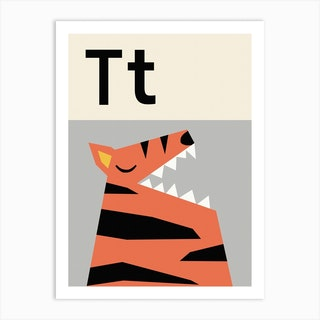 T For Tiger Art Print