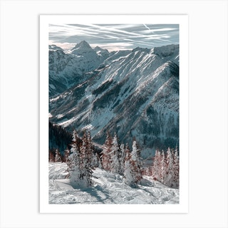 On Top Of The Mountain Art Print