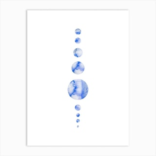 Codigo Blue Clouds Art Print