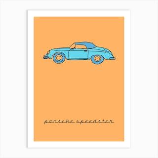 Car Porsche 356 Speedster Art Print