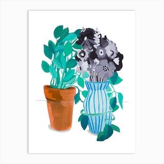 Sometimes You Need A Hug Plant Art Print