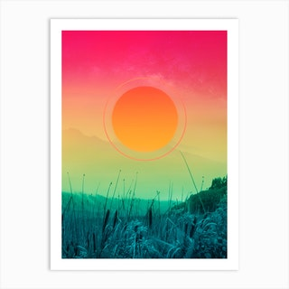 Gradients In The Forest Art Print