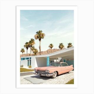 Palm Springs Classic Car Art Print