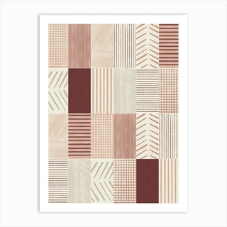 Rustic Tiles 01 Art Print