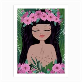 Tropical Namaste Art Print