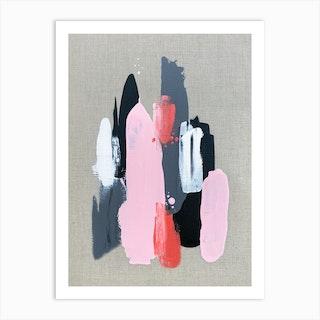 Pink Black And Grey 1 Art Print