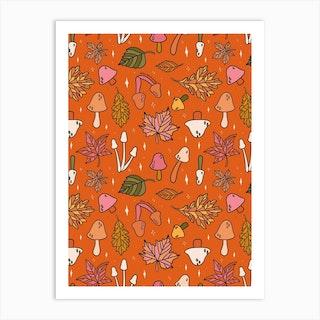 Falling Leaves Print Art Print
