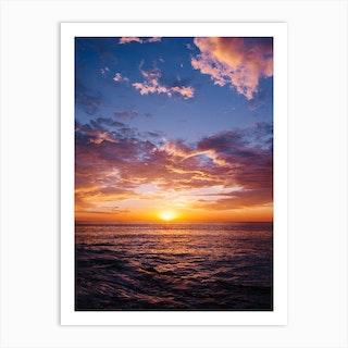 Sunset Cliffs Night II Art Print