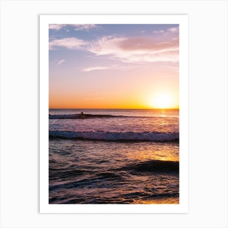 Sunset Surfers V Art Print
