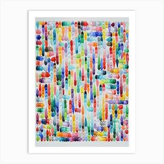 Polka Daub Pavilion Art Print