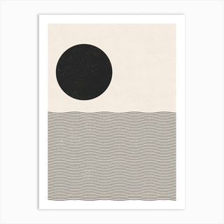 Ocean Woodblock Art Print
