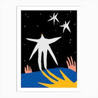 Star Blob Art Print