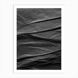 Black Paper Mountains Art Print