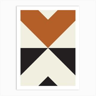 Split X Rust Art Print