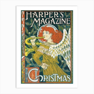 Christmas Issue Of Harper'S Magazine Art Print