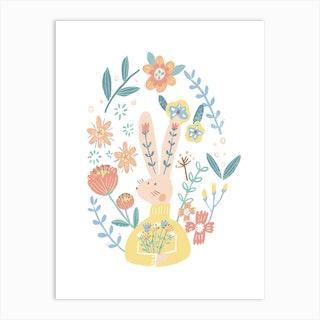 Flora Bunny Art Print