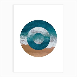 Abstract Circle Beach Art Print