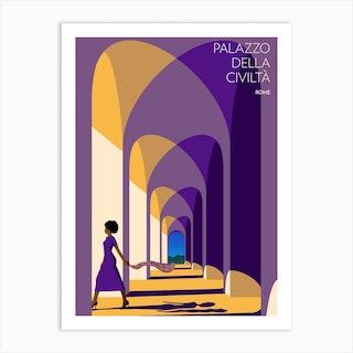 Palazzo Della Civilta Rome Art Print