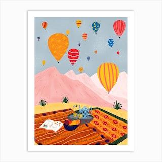 Hot Air Balloon Turkey Art Print