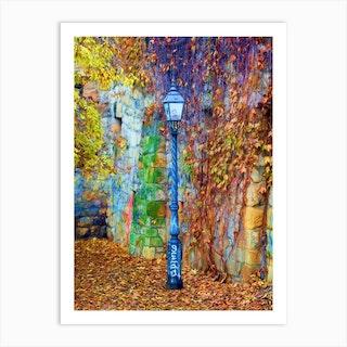 Autumnal Lamp Art Print