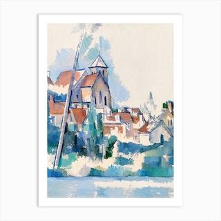 Church At Montigny Sur Loing, Paul Cézanne Art Print