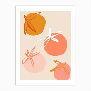 Pastel Peach Art Print
