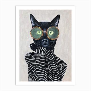 Fashion Cat Art Print