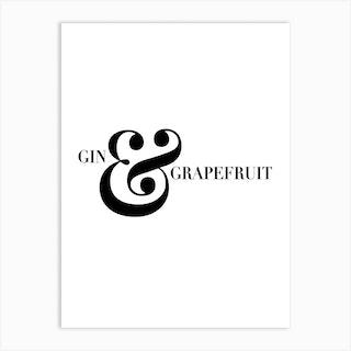 Gin And Grapefruit Screwdriver Cocktail Recipe Art Print