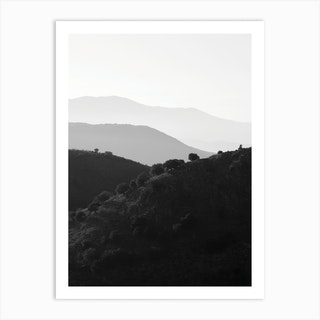 Mountains In The Shades Of Grey Art Print