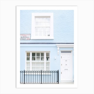 Powder Blue London Home Art Print