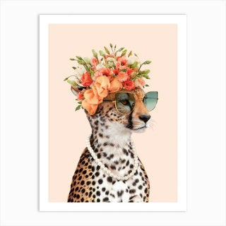 Royal Cheetah Art Print