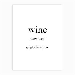 Wine Meaning Art Print