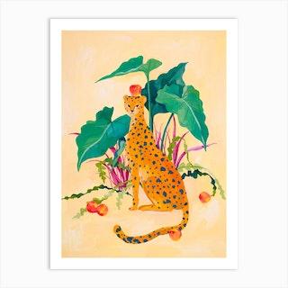 Cheetah And Apples Art Print