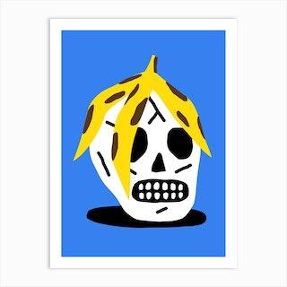 Banana Skull Art Print