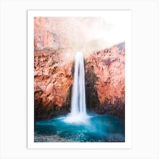 Desert Oasis Waterfall 1 Art Print