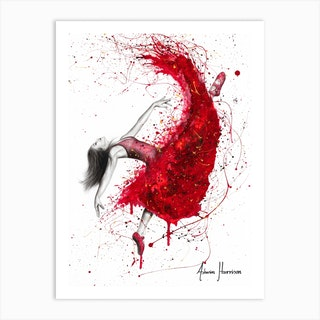 Contemporary Passion Ballerina Art Print