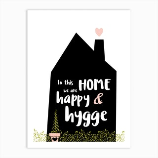 Happy Hygge Art Print