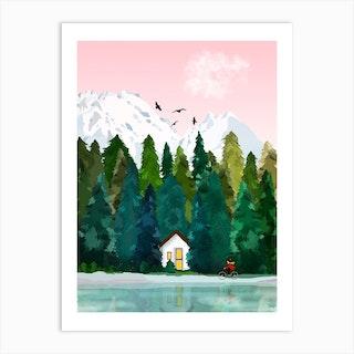 La Petite Cabane Art Print