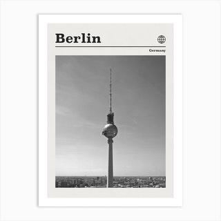 Berlin Germany Tower Black And White Art Print