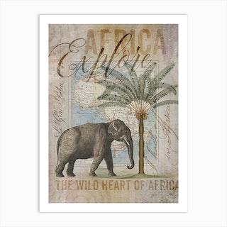 Africas Wild Heart Art Print