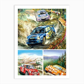 Race Cars Art Print
