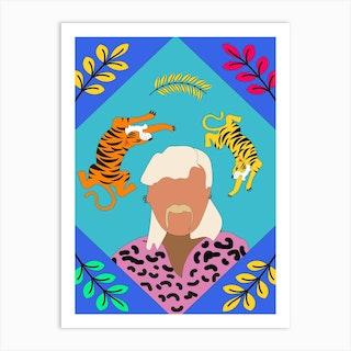 Joe Exotic Tiger Card Art Print