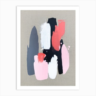 Pink Black And Grey 3 Art Print
